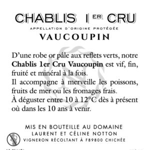 CE NOTTON CHABLIS VAUCOUPIN 2018