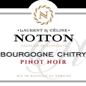 ETIQUETTE NOTTON BOURGOGNE CHITRY PINOT NOIR