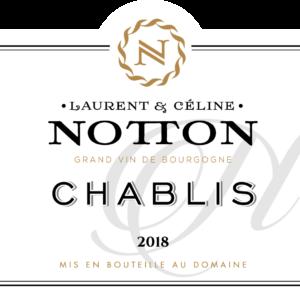 ETIQUETTE NOTTON CHABLIS 2018