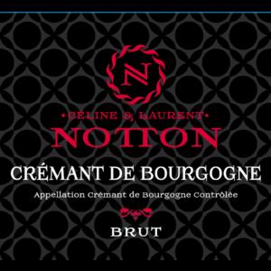 Etiquette NOTTON Cremant de Bourgogne Brut