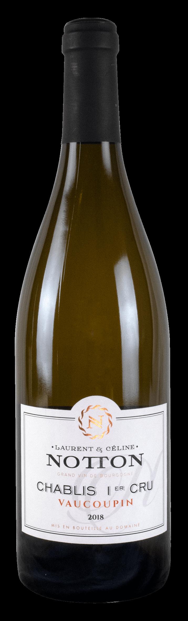 bouteille NOTTON Chablis 1er Cru VAUCOUPIN 2018