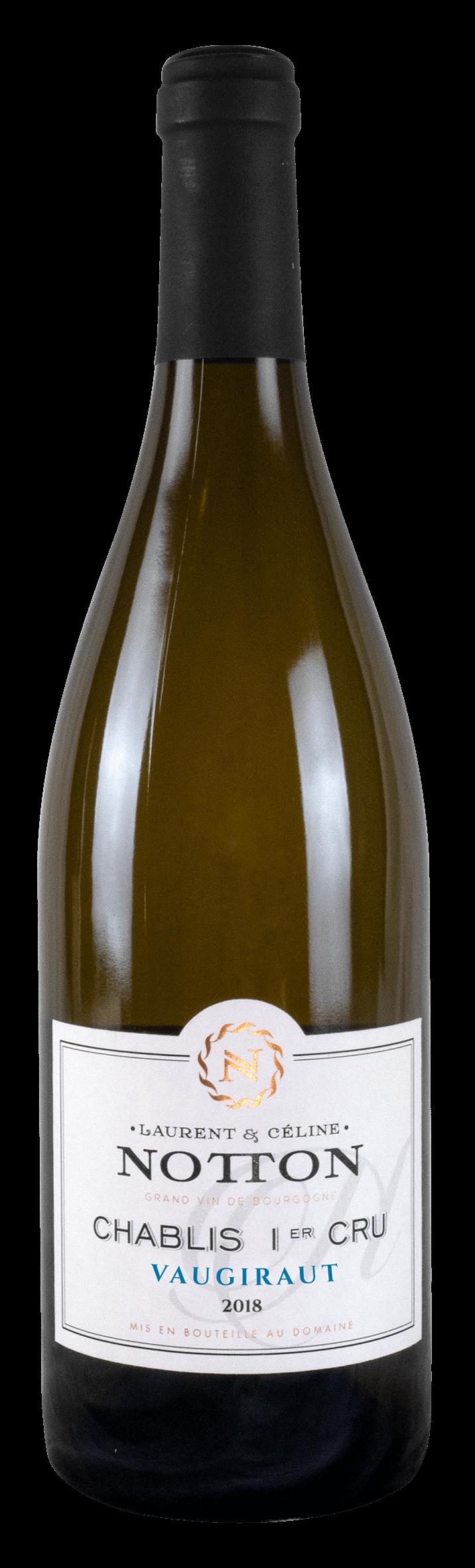 bouteille NOTTON Chablis 1er Cru VAUGIRAUT 2018